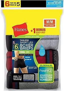 Mens Tagless Short Leg Sport Styling Boxer Briefs 6 -Pack (MCBSZ6)