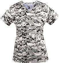 Badger Sport Ladies Digi-Camo V-Neck Wicking Moisture Management Shirt (7 Digital Colors, in 7 Women's Sizes)