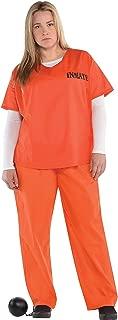 Orange Prisoner Costume for Women, Plus Size, by Amscan