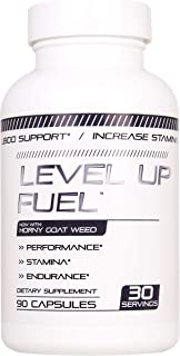 Level Up Fuel Male Enhancing Pills (1 Month Supply) - Enlargement Booster for Men - Increase Size, Strength, Stamina - Energy, Mood, Endurance Boost - All Natural Performance Supplement - Made in USA
