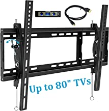 BLUE STONE TV Wall Mount Bracket, Tilt Swivel Mounting, 32-80 Inches with Max VESA 600X400 and 165lbs Loading, Fits 16