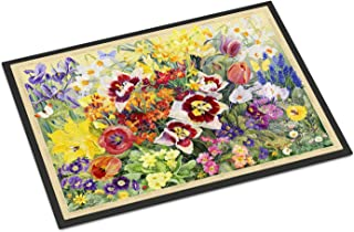 Caroline's Treasures SASE0954JMAT Spring Floral by Anne Searle Indoor or Outdoor Mat 24x36, 24H X 36W, Multicolor