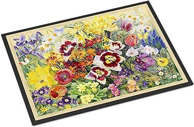 "Caroline's Treasures SASE0954JMAT Spring Floral by Anne Searle Indoor or Outdoor Mat, 24"" x 36"", Multicolor"