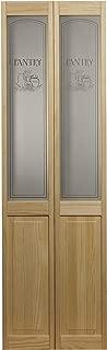 Pinecroft 864730 Pantry Half Glass Bifold Interior Wood Door, 36