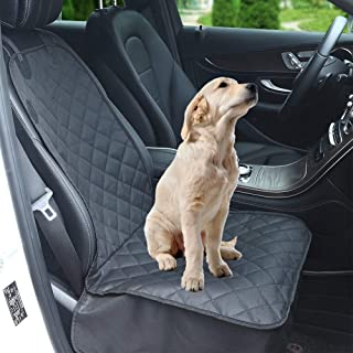 Dog Car Front Seat Cover, Waterproof Pet Car Seat Protector, 600D Heavy Duty Scratch Proof Non-Slip Durable Oxford Fabric ...