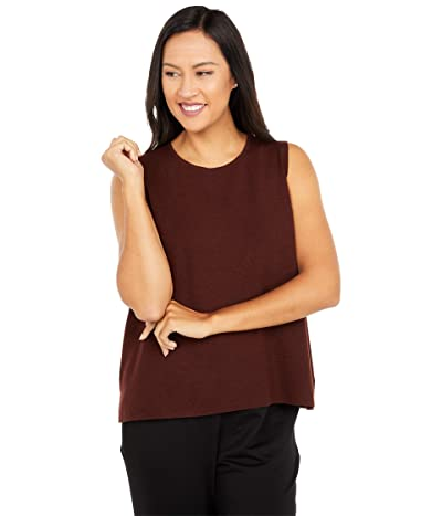 Eileen Fisher Crew Neck Shell (Brown Stone) Women