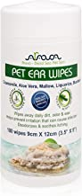 Arava Pet Ear Wipes Dogs Cats Puppies & Kittens - 100 Count - Natural Medicated Cleansing Deodorizer - Removes Dirt Wax Yeast & Mites Irritations - Prevents Odors Itching - Soft Gentle Dog Wipes