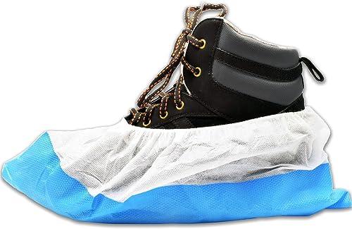 40 x Simply Direct Couvre-chaussures Robustes - Bleu/Blanc - Choix de la Quantité - Sur-chaussures Réutilisables de L...