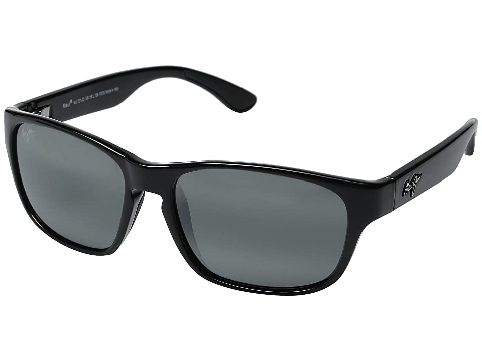 Maui Jim Mixed Plate (Gloss Black/Neutral Grey) Fashion Sunglasses