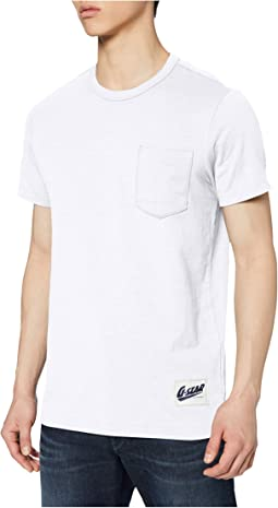 Contrast Pocket Round Neck T-Shirt