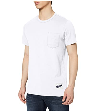 G-Star Contrast Pocket Round Neck T-Shirt (White) Men