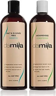 Damila Sulfate & Salt Free Shampoo & Conditioner Value Set, Post Keratin Hair Treatment, Professional Keratin Hair Care Tr...