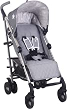 My Babiie US51 Grey Stars Baby Stroller – Lightweight Baby Stroller with Carry Handle – Silver Frame and Grey Stars Canopy – Lightweight Travel Stroller – Suitable from Birth – 33 lbs