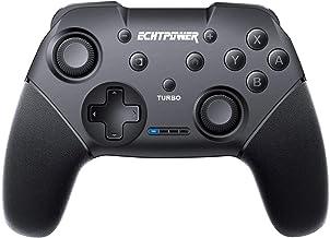 ECHTPower Mando para Nintendo Switch Apoya Vibración, Turbo y Giroscopio, Controlador Bluetooth Inalámbrico y Recargable de Batería 600mAh para Nintendo Switch/ Nintendo Switch Lite