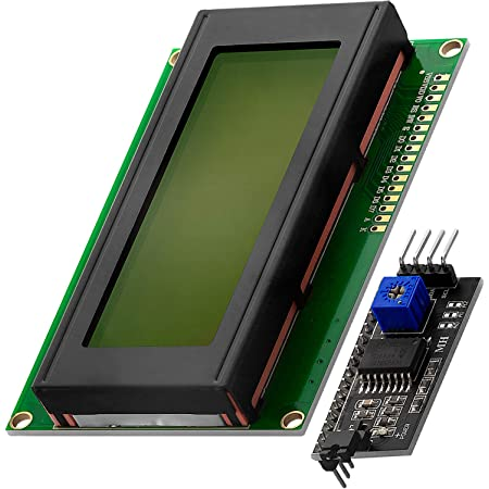 AZDelivery HD44780 2004 LCD Display Bundle Verde 4x20 con Caracteres Negros con Interfaz I2C compatible con Arduino y Raspberry Pi con E-Book incluido!