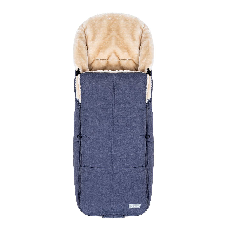 Orzbow Wool Warm Bunting Bag Universal,for Alaska,Stroller Sleeping Bag Cold Weather,Waterproof Toddler Footmuff (Denim Blue)