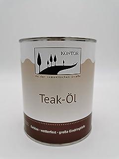Kontor Teak ÖL Holzpflegeöl Holz Öl Außen Gartenmöbel 1L