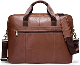 CONTACTS Genuine Leather Brown Office Bag, Sling Bag, Messenger Bag & Laptop Bag with RFID Protected Pocket (Tan)
