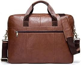 CONTACTS Genuine Leather Brown Office Bag, Sling Bag, Messenger Bag & Laptop Bag with RFID Protected Pocket (Tan)