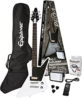 Epiphone PPEG-EDEXAWCH1-15 Electric Guitar Pack, Alpine White