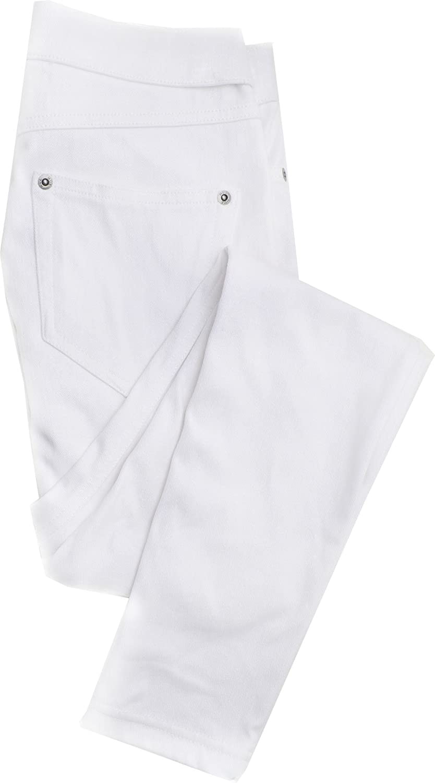 Hue Womens Metallic Super Smooth Denim Skimmer Leggings Large White