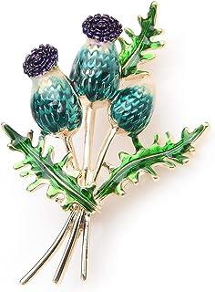 Bouquet di tulipani blu Fiori Spille smaltate Matrimoni in metallo Spille per banchetti Spille per donne e uomini Regalo d...
