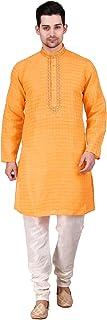 Kacery Men's Indian Fancy Cotton Kurta Pajama Sherwani Traditional Outfit AR150…