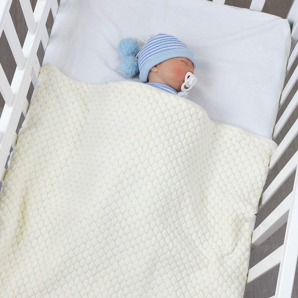 multifunci/ón Borlai de 0 a 12 meses Saco de dormir para beb/é manta para cochecito de beb/é reci/én nacido beige beige