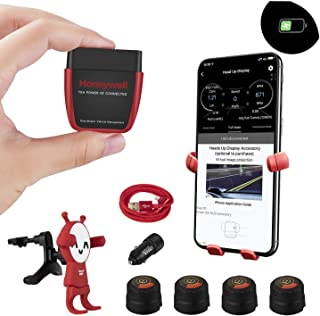 AUTDER Honeywell OBD Bluetooth Scanner Diagnostic Scan Tool OBD2 Code Reader with Tire Pressure (TP) Monitor and Phone Bracket [with Wireless Charging Function], for iOS & Android Devices