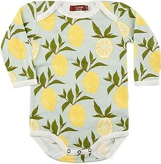 MilkBarn Organic Cotton Long Sleeve One Piece Lemon
