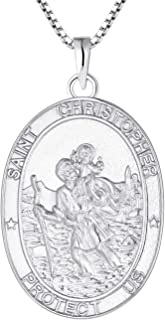 st christopher medal silver