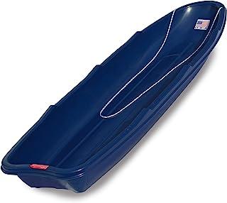 Flexible Flyer Winter Trek Large Pull Sled for Adults. Plastic Toboggan for Snow Sledding, Ice Fishing, Work