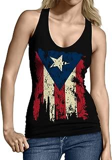 Vintage Distressed Puerto Rico Junior's Tank Top