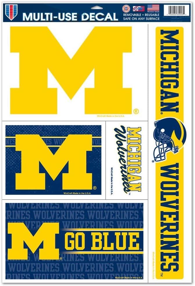 WinCraft NCAA University of Michigan 91289013 Multi-Use Decal 3 x 4