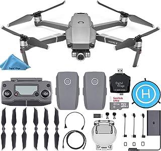 DJI Mavic 2 Zoom Drone Quadcopter with 2 Batteries + SanDisk 32GB Card + Landing Pad + Starter Bundle