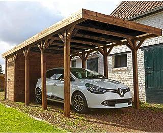 MADEIRA - MADEIRA - Carport 1 voiture bois traité autoclave - Harry