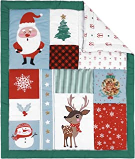 TILLYOU Christmas Winter Toddler Quilt- Warm Soft Hypoallergenic Baby Quilted Blanket - 39