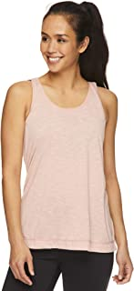 gaiam Women's Mesh Back Yoga Muscle Tank Top - Sleeveless Performance Workout Shirt