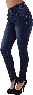 Plus/Junior Size Butt Lift Levanta Cola Mid Waist Fashion Skinny Denim Jeans