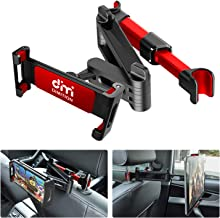 Tablet Holder for Car Mount, DM Car Headrest Holder for Tablet Headrest Car Tablet Holder Compatible with iPad/Samsung Galaxy Tabs/Amazon Kindle Fire HD/Microsoft Surface/iPhone and iPad (Red)