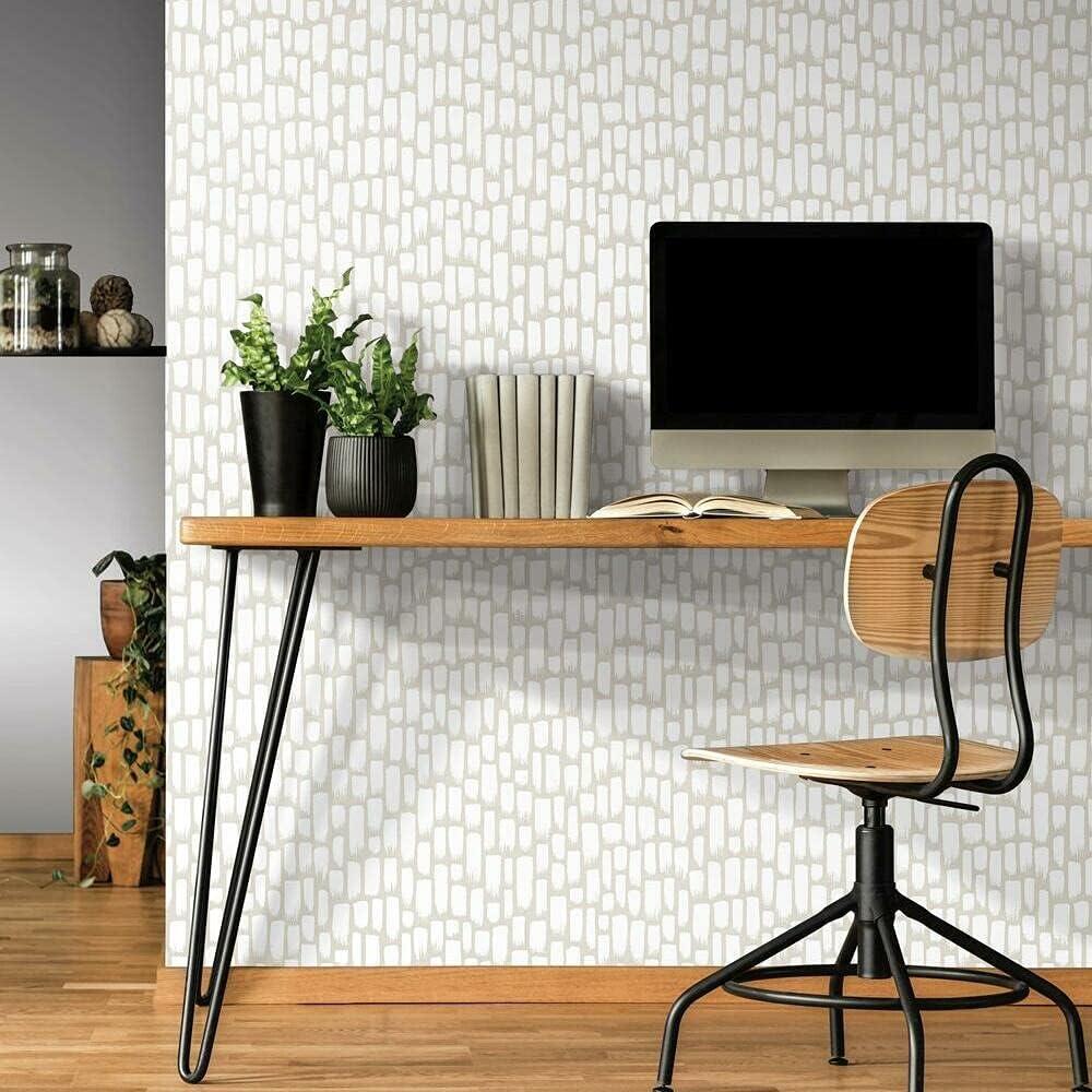 RoomMates RMK11493WP Sumi-E Taupe Peel and Stick Wallpaper