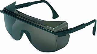 UVEX by Honeywell 763-S2504C Astrospec Series 3001 OTG Safety Eyewear, Black Frame, Gray Lens, Uvextreme Anti-fog Coating (Pack of 10)