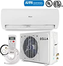 DELLA Ductless Mini Split Inverter Wall Mount AC Air Conditioner with Heat Pump (22 SEER) Energy Saver 12,000 BTU, 230V -AHRI Certified
