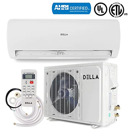 DELLA Ductless Mini Split Wall Mount AC Air Conditioner with Heat Pump (22 SEER)