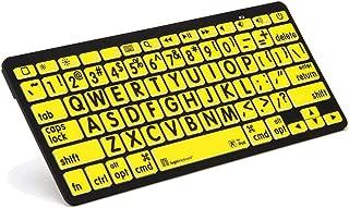 LogicKeyboard Large Print Black on Yellow Bluetooth Mini Keyboard For Apple iPad and iPhone - Tablet not Included - LKBU-LPBY-BTON-US