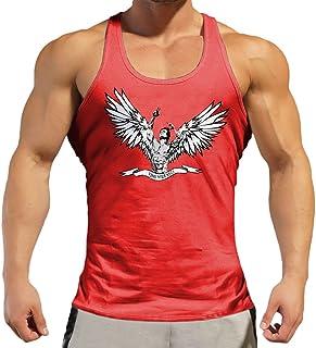 Muzboo Stringer Gym Basic Solid Tank Top - Camiseta sin mangas para hombre, culturismo, fitness