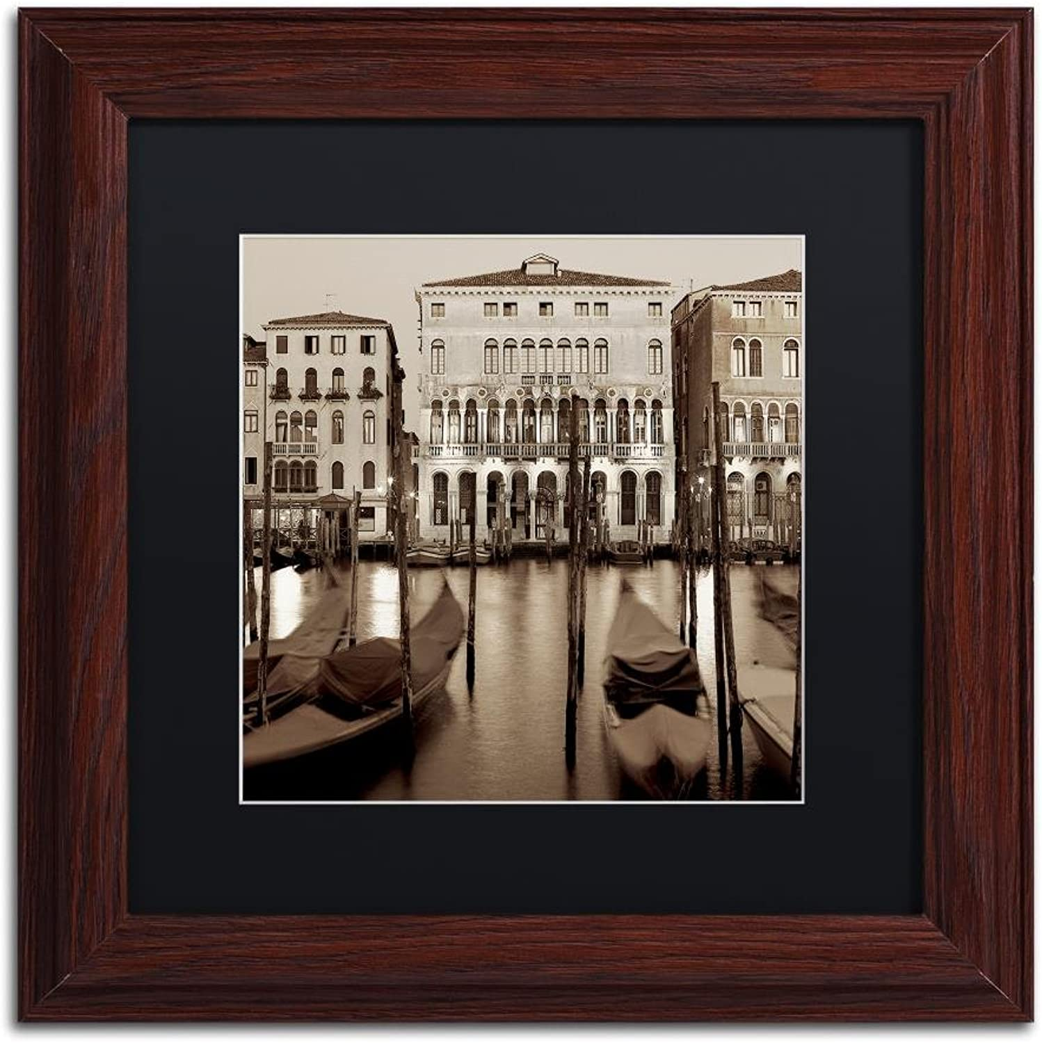 Trademark Fine Art Venezia I by Alan bluestein, Black Matte, Wood Frame, 11  X 11