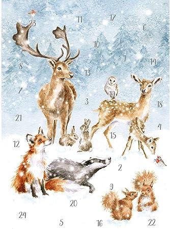 A Woodland Christmas Advent Card Calendar