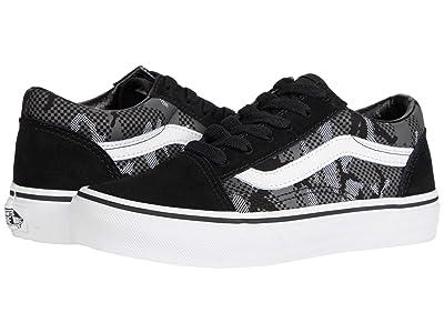 Vans Kids Old Skool (Little Kid) ((Pattern Camo) Black/True White) Boys Shoes