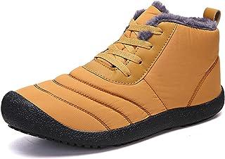 Hot Hommes Bottes d'hiver pour Hommes Chaud Hommes Bottes pour Hommes Peluche Chaussures de Neige pour Hommes étanches (Co...